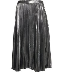 metallic pleated midi skirt knälång kjol silver banana republic