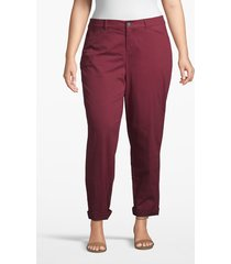 lane bryant women's boyfriend chino 22 windsor wine
