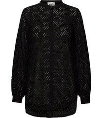 avador shirt overhemd met lange mouwen zwart just female