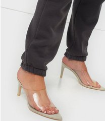 nly shoes pointy transparent mule high heel