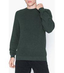 premium by jack & jones jprpost knit crew neck sts tröjor mörk grön