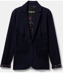 slim mandalas blazer - blue - 42