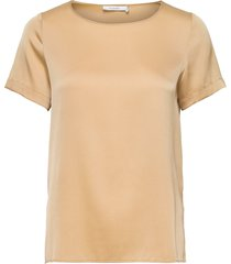 bloomie silk blouse blouses short-sleeved beige andiata