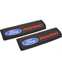 ford racing seat belt covers leather shoulder pads accessories with emblem