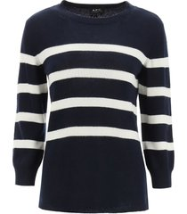 a.p.c. lizzy striped sweater