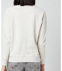 isabel marant étoile women's millyp sweatshirt - ecru - fr 40/uk 12
