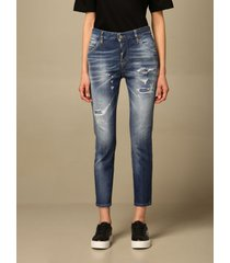 dsquared2 jeans cool girl dsquared2 jeans in used denim with tearsp