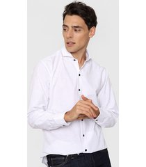 camisa blanca new astor planta slim fit