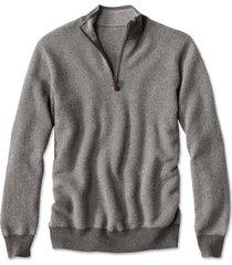 cashmere quarter-zip sweater, gray heather, medium