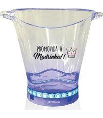 balde de gelo com led personalizado para madrinha - incolor - dafiti