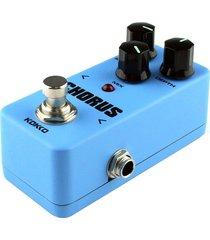 kokko fch2 mini guitarra analog chorus pedal de efectos monoblock (azul)