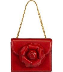 red mini tro crossbody bag