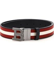 bally reversible belt stripe b buckle