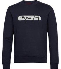 dicago_u211 sweat-shirt tröja blå hugo
