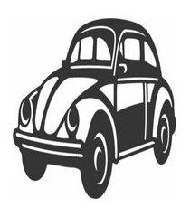 enfeite decorativo carro fusca silhueta preto em mdf 25x48cm