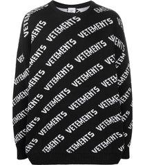 cashmere logo print sweater