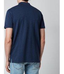 polo ralph lauren men's stretch mesh slim fit polo shirt - fresco blue heather - xxl