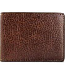 men's boconi caleb cash fold wallet - brown