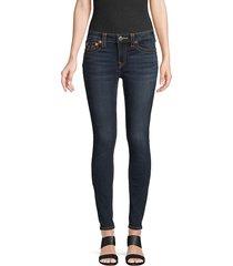 true religion women's classic skinny jeans - indigo blue - size 25 (2)