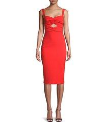 cutout-front sheath dress