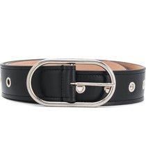 acne studios oval buckle belt - black