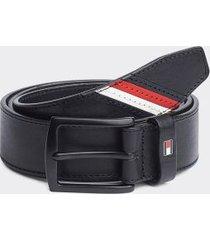 tommy hilfiger men's flag stripe webbed belt black/corporate stripe - 40