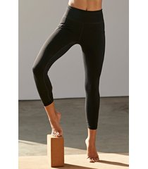 women's free people fp movement solid wave rider pocket leggings, size x-small - black