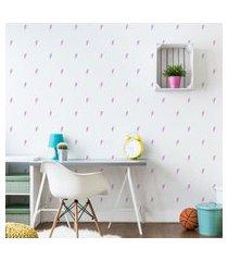 adesivos de parede raios em lilás 134un cobre 5m²