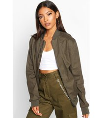 oversized boyfriend bomber jacket, khaki