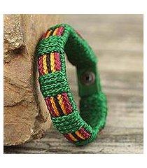 men's wristband bracelet, 'kente feast' (ghana)