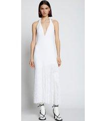 proenza schouler fringe knit dress white s