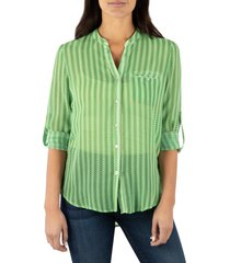 women's kut from the kloth jasmine top, size x-small - green