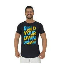 camiseta longline alto conceito build your own preto
