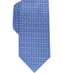 club room men's classic grid silk tie, created for macy's