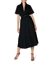 women's s/w/f freedom plunge lace trim midi dress