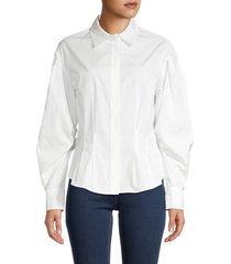 frame women's geraldine spread-collar shirt - white - size xxs