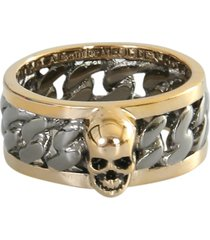 skull ring and chain