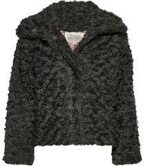 amandine jacket outerwear faux fur grå odd molly