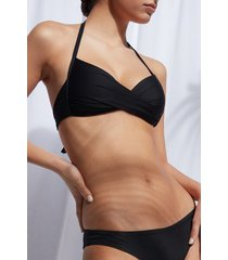 calzedonia padded triangle swimsuit top indonesia eco woman black size 5