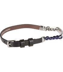 alexander mcqueen double wrap chain bracelet