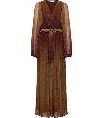 gizelaiw dress maxi dress galajurk bruin inwear