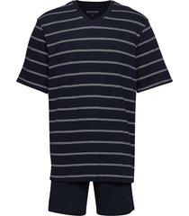 pyjama short pyjamas blå schiesser