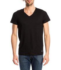 ten cate heren t-shirt v-hals zwart (2p)