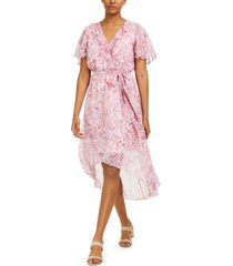 bar iii printed high-low dress, created for macy's