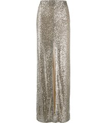galvan modern love sequin skirt - neutrals