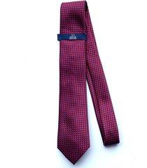corbata azul  por rojo oscar de la renta 02-gb2719-f