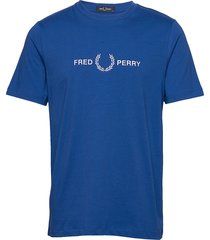 graphic t-shirt t-shirts short-sleeved blå fred perry