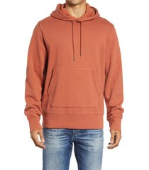 men's madewell hooded sweatshirt, size x-small - red