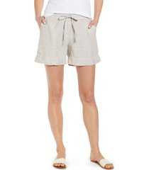 women's tommy bahama palmbray linen shorts, size x-large - beige