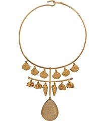 aurelie bidermann panama quartz necklace - gold